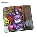 FVIP Anime Cartoon HASP Open Three Flod Wallet Five Nights at Freddy /Doctor Strange /Suicide Squad Wallets For Young