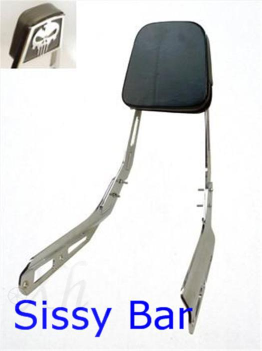 motorcycle parts Skull Backrest Sissy Bar Leather Pad for Honda   VTX 1300N R S T 1800N