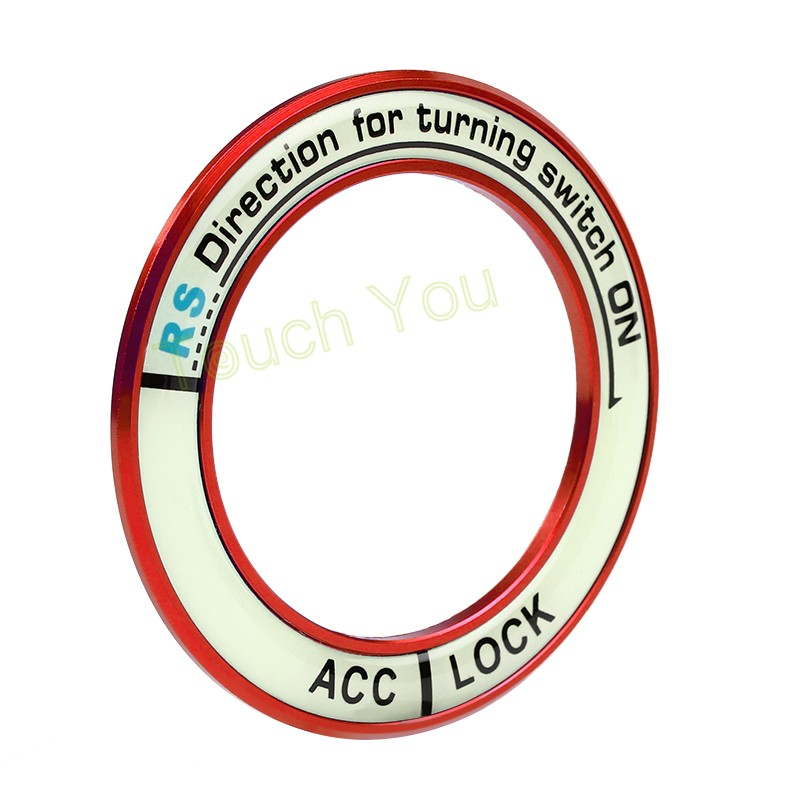 HTB1ytluKVXXXXbeXXXXq6xXFXXXJ - Luminous Alloy Car Ignition Switch Cover Auto Accessories Car Stickers Circle Light Decoration For TOYOTA COROLLA LEVIN Motor