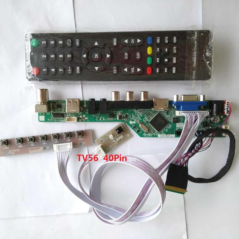 Monitor Kit for LP156WH4-TLA1 HDMI+DVI+VGA LCDLED screen Controller Board Driver