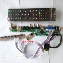 """ערכת עבור LP156WH4(TL)(A1) הטלוויזיה AV 1366X768 15.6 """"מסך פנל LCD LED מרחוק VGA 40pin LVDS בקר לוח נהג HDMI USB"""