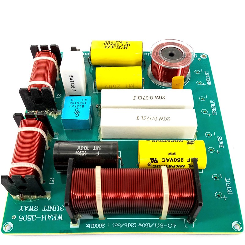 2 pcs KTV Professionnel Haut-Parleur 3 Façon Audio Diviseur de Fréquence haut-parleur 3 Unité Crossover Filtres DIY 300 w Pour 12 pouce Haut-Parleur