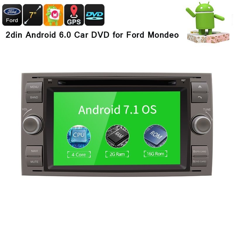 Android 7.1Quad core 2G RAM 32GB ROM Car DVD GPS Radio stereo For Ford Mondeo S-max Focus C-MAX Galaxy Fiesta Form Fusion PC