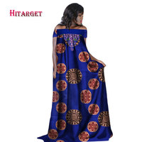 Hitarget 2018 african dresses for women fashion design new african bazin embroidery design long dress african clothes WY2282