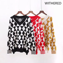 Withered 2018 BTS hoodie Sweatshirts hooded jacquard geometric v-neck  regular pullovers fashion Women s hoodie 6e47f9800124