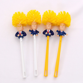 Creative Childrens Play House Cleaning Toys Donald Trump Toilet Brush Plastic Kids