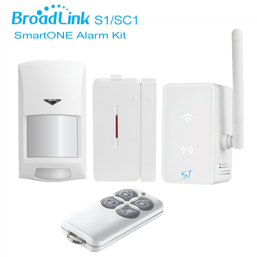 Broadlink S1 S1C SmartOne Alarm Kit PIR Motion/Door Sensor Alarm Security Home Alarm System Wifi Remote Control by IOS Android