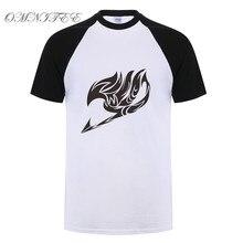 Omnitee Summer New Printed Fairy Tail T Shirts Men Anime T Shirts Short Sleeve O-neck Fashion T-shirt Cartoon Tops Tee OT-397