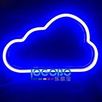 Barato Levou Sinais de Néon Personalizado Nuvem Eletrônica Rápida Comercial Do Vintage Fresco Tubo de Néon Sinal de Iluminação para Venda Portátil Sinal Backlit