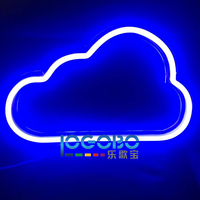 Cheap Led Electronic Signs Custom Neon Cloud Commercial Fast Vintage Cool Neon Tube Sign Lighting for Sale Portable Backlit Sign
