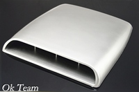 Car Styling Universal Decorative Air Flow Intake Scoop Turbo Bonnet Vent Cover Hood Silver White Black