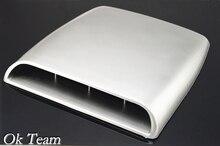 De coches de Estilo Universal Air Flow Decorativo Cubierta de Ventilación Campana Scoop de Admision Turbo Capo Plata/blanco/negro envío gratis