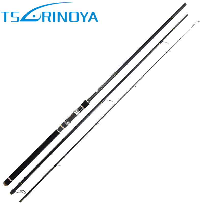 TSURINOYA 3.3m 3.6m 3 Segments Fishing Rod Pole MH Power FUJI Reel Seat Carbon Fiber Spinning Lure Rod Sea Bass Fishing Tackle