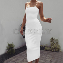 CUERLY Strap Backless Sexy Long Dress Party Off ShouCUERLYer Strapless Summer Maxi Black Bodycon Women
