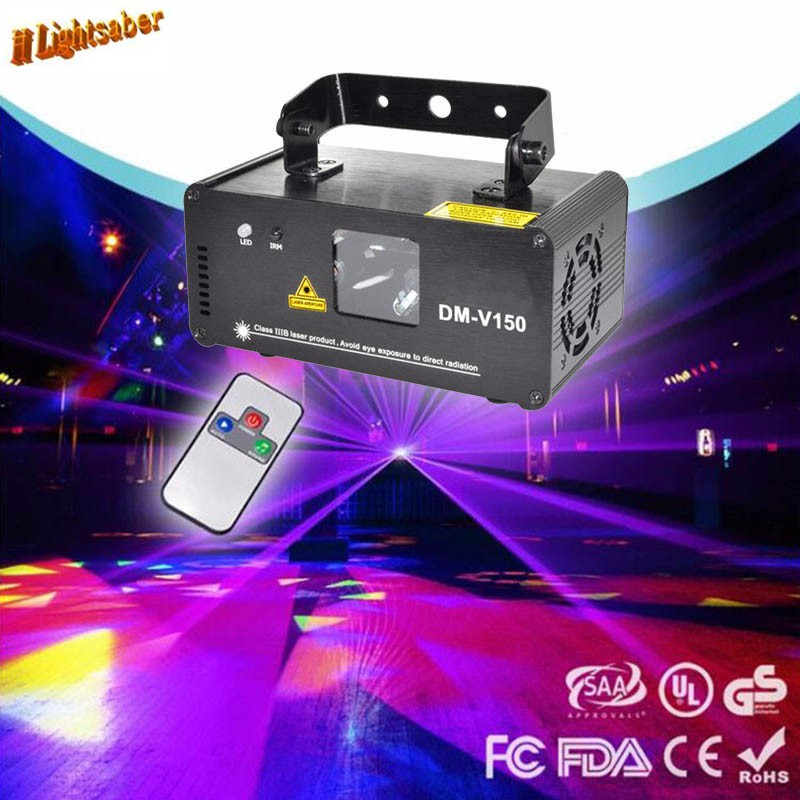 Remote 150mw Violet Purple Laser Line Scanner Projector Professional Stage Lighting Effect DMX512 DJ Xmas Party Disco Show Light metsan mts 150 purple