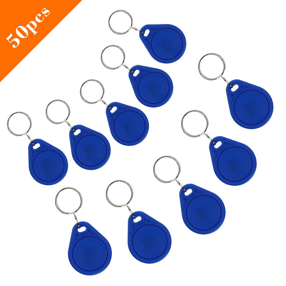 DWE CC RF 50pcs per lot 125khz TK4100 em id key fob rfid tag for door access control system
