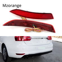 MIZIAUTO Car LED rear bumper reflector Lamp Auto Light for VW Volkswagen Jetta 2011-2014 Car styling Tail parking warning light стоимость