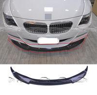 Carbon Fiber Front Bumper Lip Body Kit V Type For BMW E64 E63 M6 Coupe 2DR 2006 2010