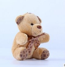 10cm a tie plush toy teddy bear doll pendant keychain toy gifts(China)