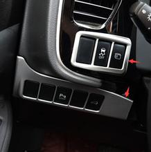 цена на ABS Chrome For Mitsubishi Outlander 2015 2016 2017 Car Console Decoration left Strip frame accessoriesr cover Trim sticker 2pcs