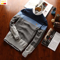 Szyid brand Men polos sweater slim fit cotton pullovers O-neck long sleeve Embroidery Police dog sweaters S0002