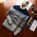 Szyid marca polos Homens camisola slim fit cotton pullovers O Pescoço longo manga Bordado camisolas do cão de Polícia S0002