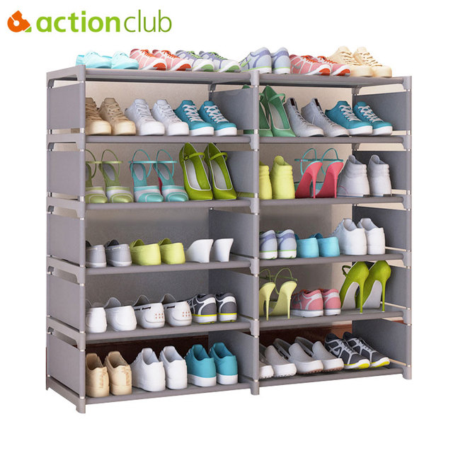 Merveilleux Actionclub Multi Purpose Double Rows Storage Shoe Cabinet DIY Books Shelf  Toy Plants Storage Locker