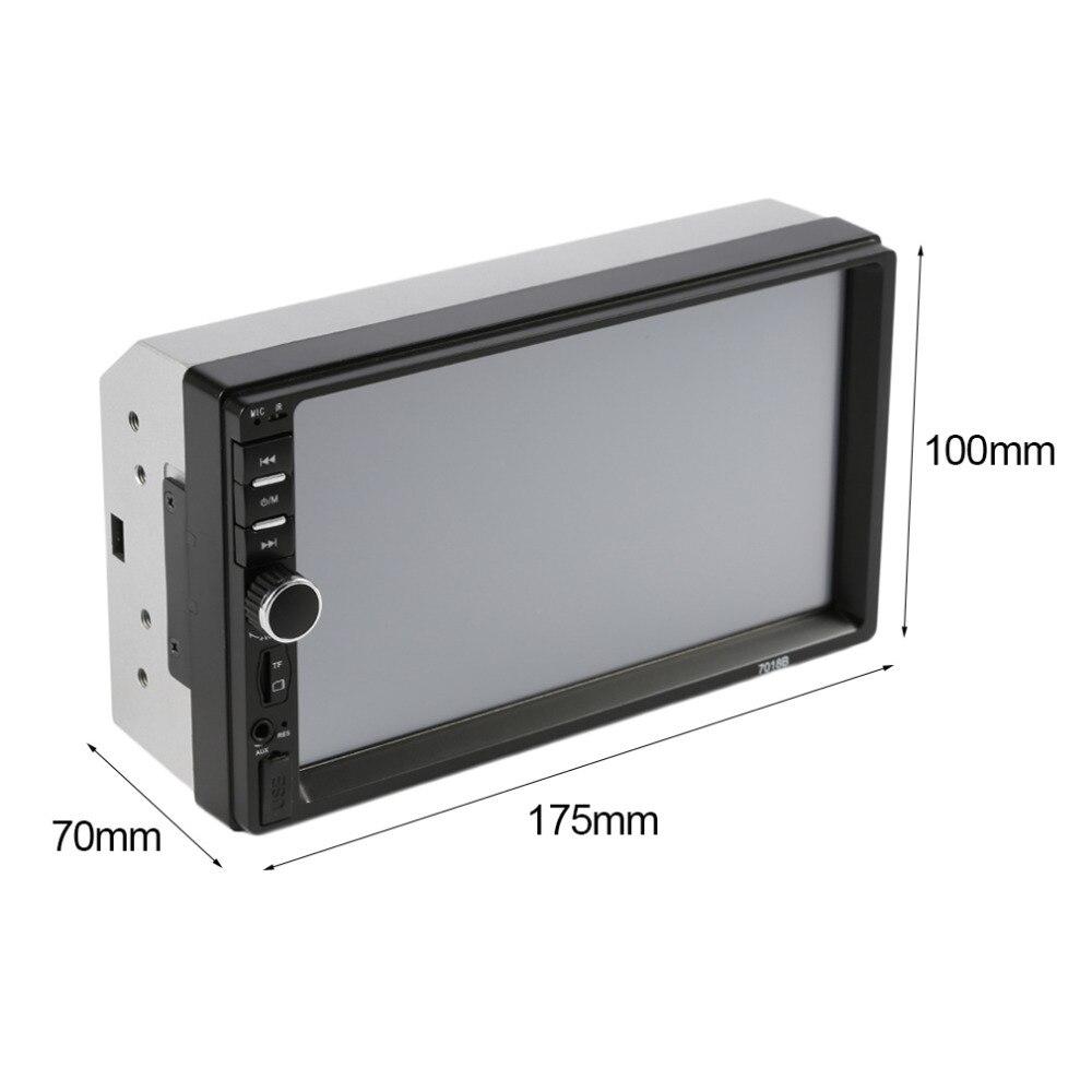 2 Din Universal Bluetooth 7 Inch Screen Display Aux Input Auto Car DVD FM/MP5 Player Vehicle Rear View Camera Input Hot fm трансмиттер belkin tunecast auto universal f8z439ea