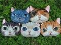 Одна часть 3D напечатаны кошка подушка, прекрасный подушку, милый vivid cat мягкие игрушки для детей девушки подруга домой украшения подарок круто