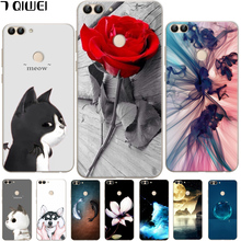 For Huawei P Smart Case Silicone Cute Cat Cartoon Clear Back Phone Cases For Huawei P Smart Cover TPU Animal Girls PSmart Fundas