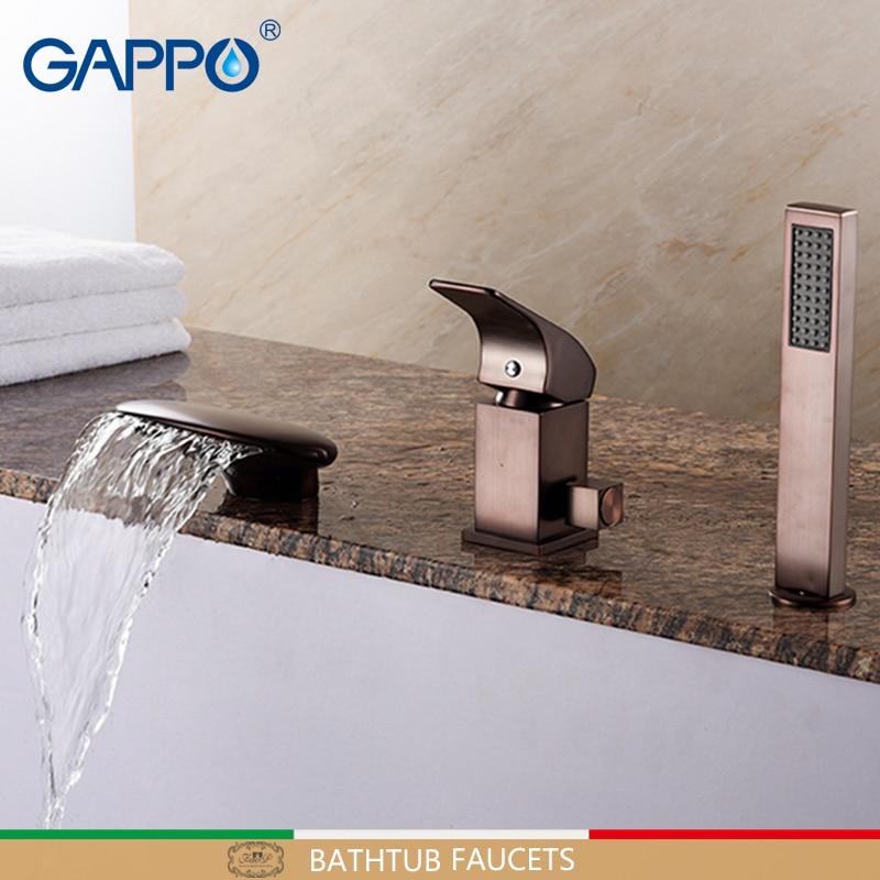GAPPO Bathtub Faucets ORB bath shower mixer waterfall faucet mixer tap bathroom deck mounted bath tub faucet tap sink mixer