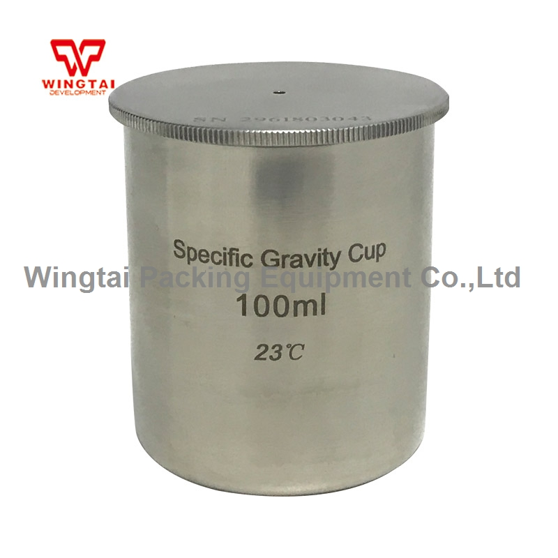 BGD296/5 100cc/ml High Quality Stainless Steel Density Cup/Capacity Specific Gravity Cup lab testing stainless steel density cup 50ml capacity specific gravity cup