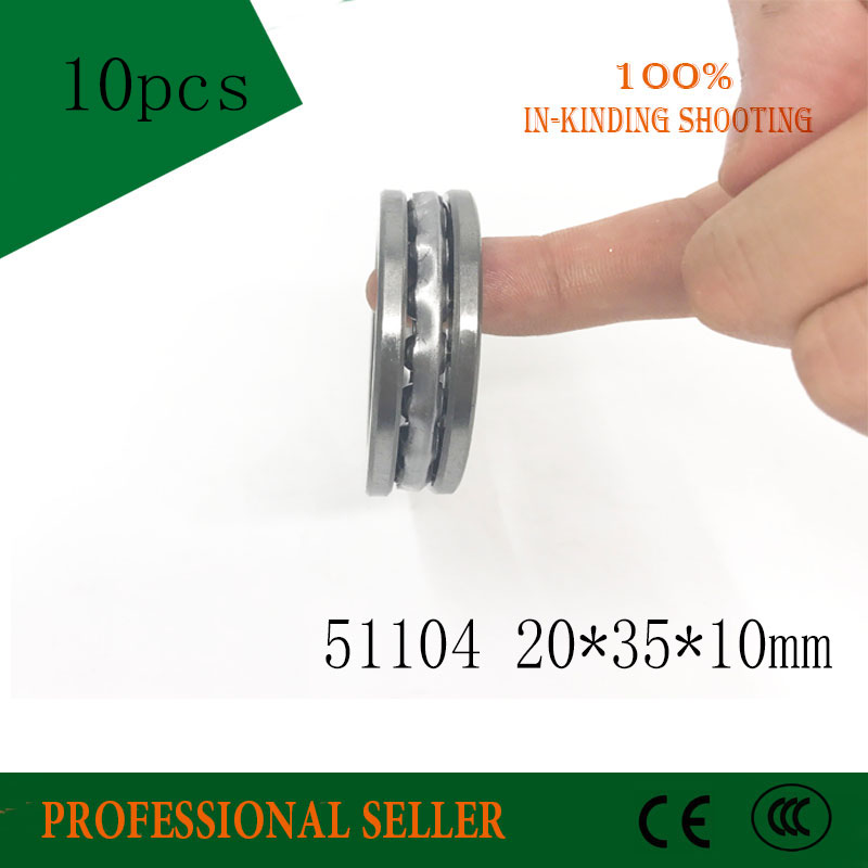 10pcs Free Shipping Axial Ball Thrust Bearing 51104 20*35*10 mm Plane thrust ball bearing 8104 free shipping 10pcs ds1231s 050 ds1231s 20 ds1231s 35