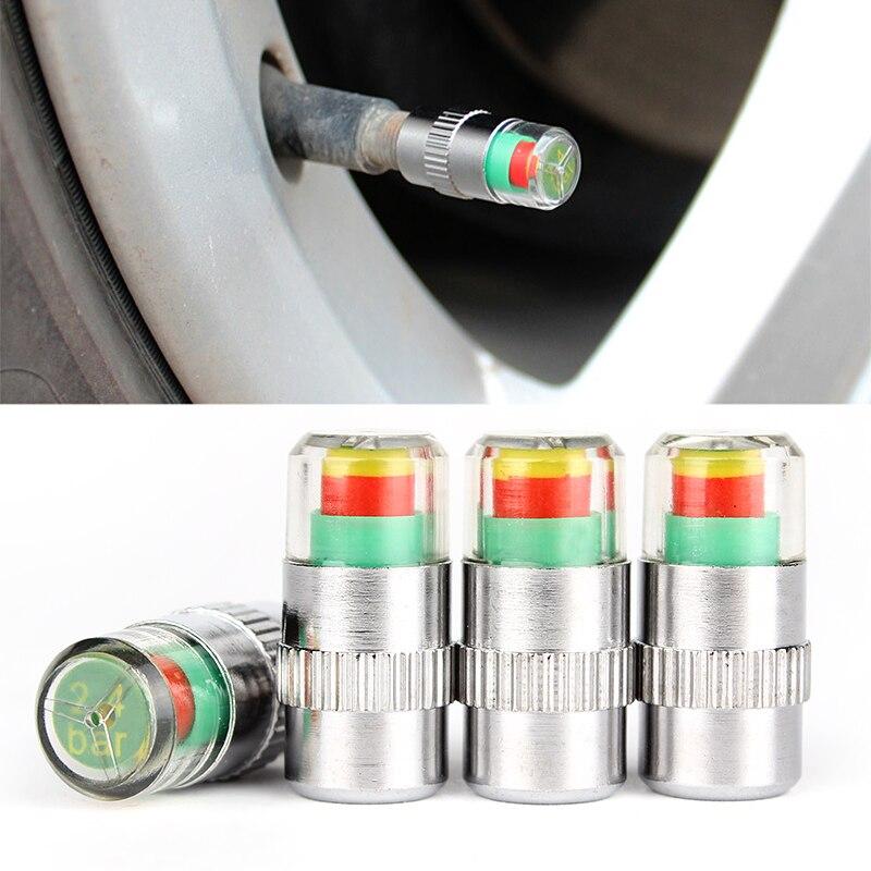 4pcs/lot  Valve Stem Cap Sensor Indicator Hot  2.4bar 36PSI  3 Color Alert  New Car Accessories Car Tyre Tire Pressure Monitor 9