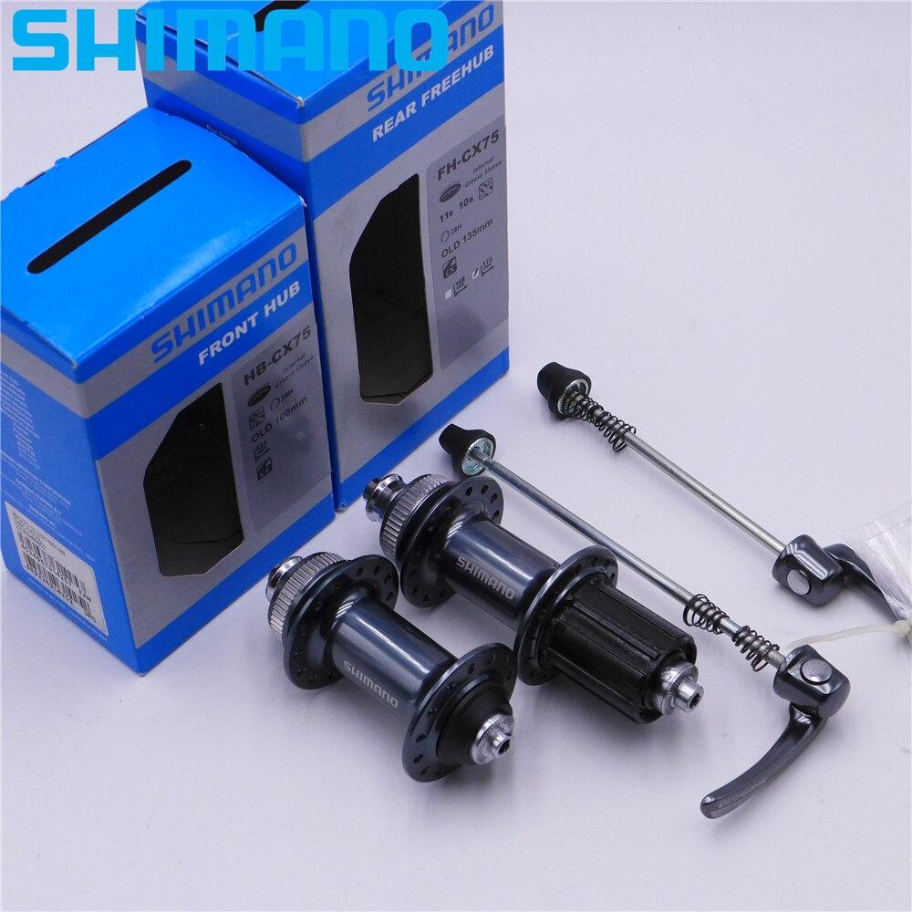 Moyeu de frein à disque SHIMANO CX75 CX pour vélo de route moyeu de frein à disque 28 trous avant et arrière moyeu libre 28 h 100*9mm 135*10mm FH-CX75 HB-CX75