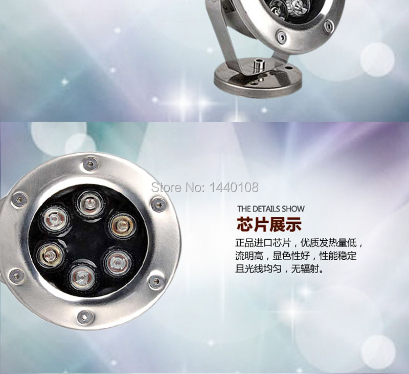 6w 9w 12w Led Underwater Light For Swimming Pool Fountain Pool Light Warm White Ac85-265v Stainless Steel Ip 68 10pcs/lot Latest Fashion Led Underwater Lights