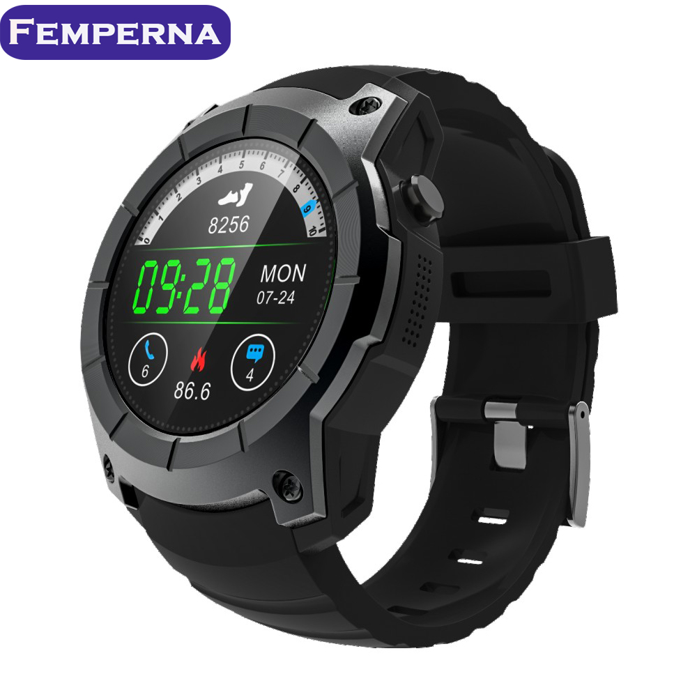 Femperna S958 GPS Smart Watch Heart Rate Monitor Smartwatch Sports Passometer Bluetooth Wrist watch Support SIM card for Men leegoal bluetooth smart watch heart rate monitor reminder passometer sleep fitness tracker wrist smartwatch for ios android
