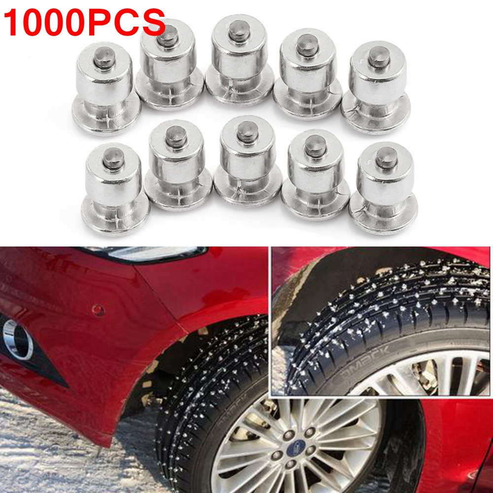 1000PCS Tyre Winter Wheel Lugs Screws Snow Spikes Tire Studs Screw Car Styling Spikes Winter Tire Snow Chains Spike Motorcycle
