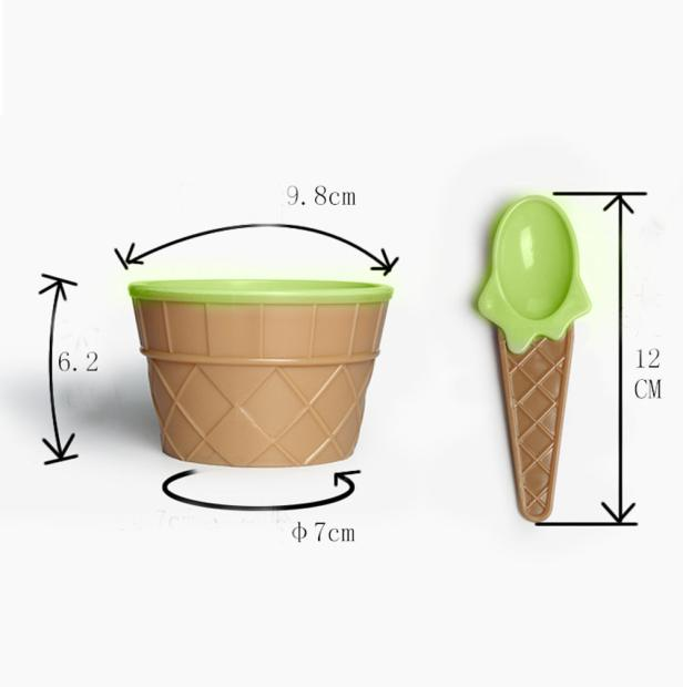 Fashion new design1 x ice cream bowl with a spoon for kids boys girls cute lovely a set of ice cream tool Summer use Vovotrade
