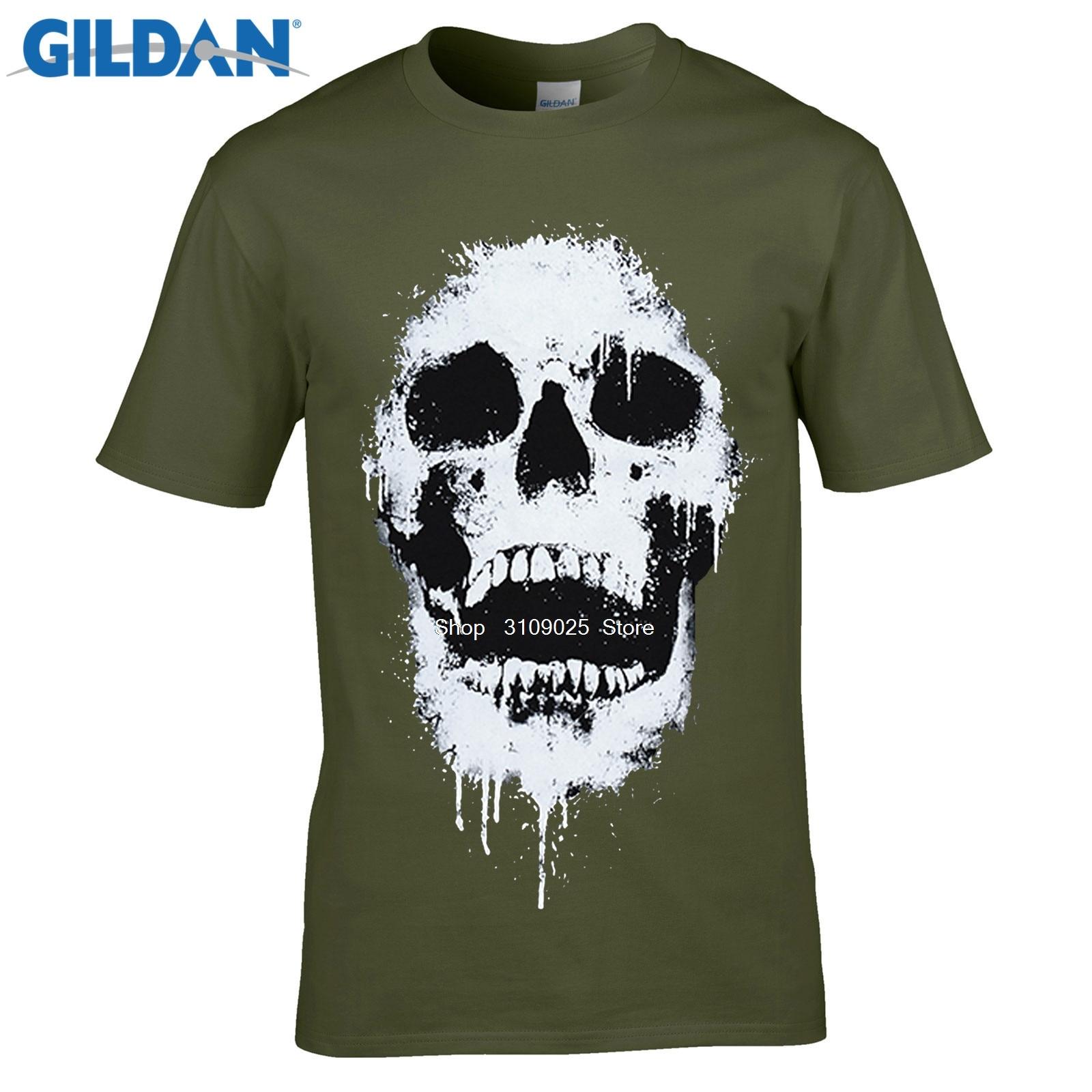 Black t shirt diy - Gildan Diy Style Mens T Shirts Men S Black T Shirt Skull Print Quality Odell Cotton