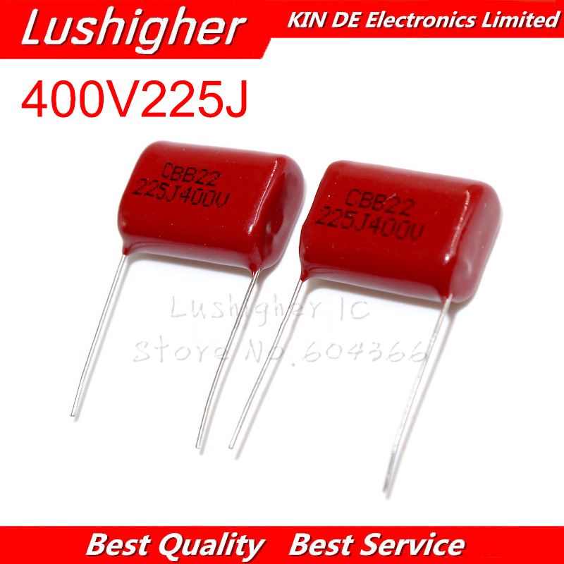 10PCS 400V225J 2.2UF Pitch 20mm 225J400V 225J 225 400V CBB Polypropylene Film Capacitor