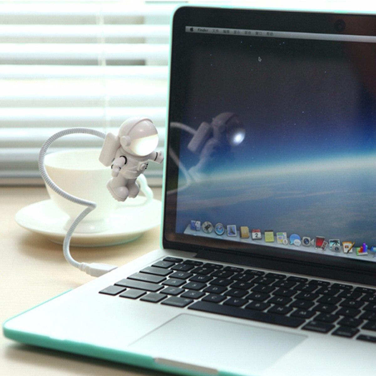 Mini Flexible Spaceman Astronaut USB Tube ABS PC LED Night Light ...