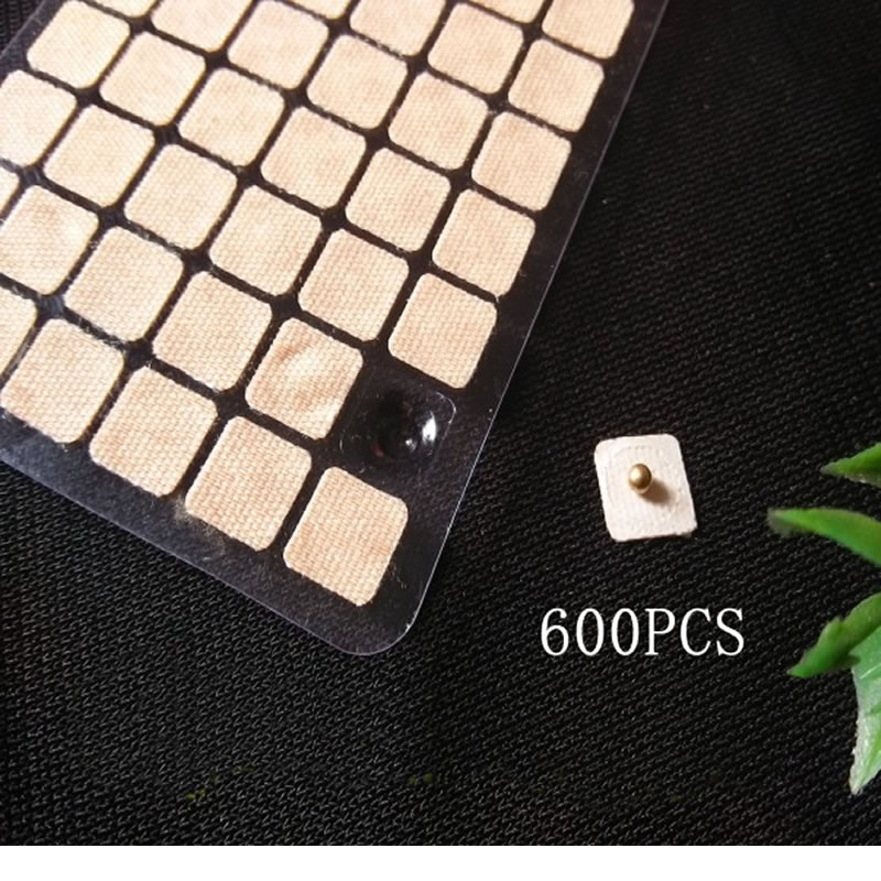 Magnets Gold Plated Ear Seeds Sticker Paste Bean Acupressure massage seed for Acupoint Therapy Auricular Acupuncture 600 PCS