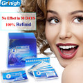 Com Caixa de Dentes Branqueamento Tiras 28 tiras Brancas (14 Bolsas) 1 Horas Express Tecnologia Avançada Descamação Seca 3D Branco Tiras de Dente