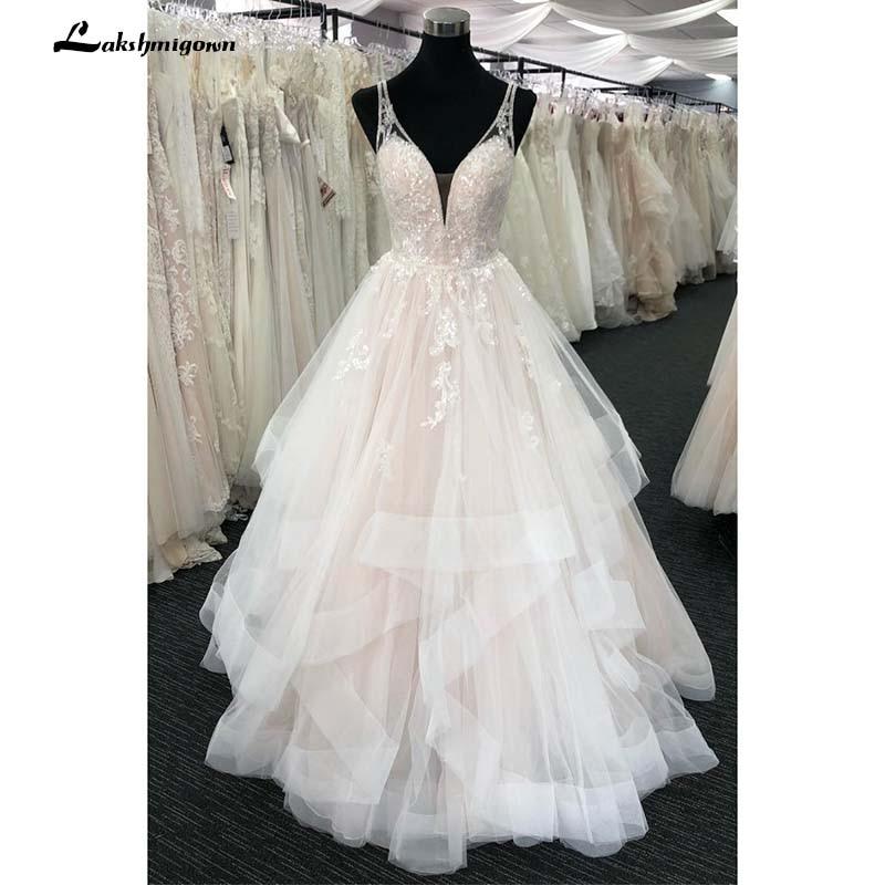 2019 Bohemian Wedding Dresses With Ruched Lace Boho Bridal Gown vestido de noiva robe de mariee
