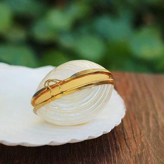 Free Shipping 1pcs Lot Shell Jewelry Box Natural Shell Beach Wedding