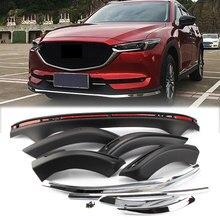 Auto accessoire avant arrière pare-chocs conseil garde plaque de protection barre protecteur ABS plastique pour Mazda CX-5 CX5 2017 2018 2019 2020