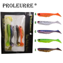 Proleurre 5 pcs/lot Soft Lure Fishing Bait 7cm 2.88g Silicone Soft Lures Worm Fishing Lures Artificial Bait Bass Swimbait Lure sealurer 6pcs lot new 75mm 2 2g vivid soft lures artificial loach fishing bait swimbait fishing worm e fishing lures