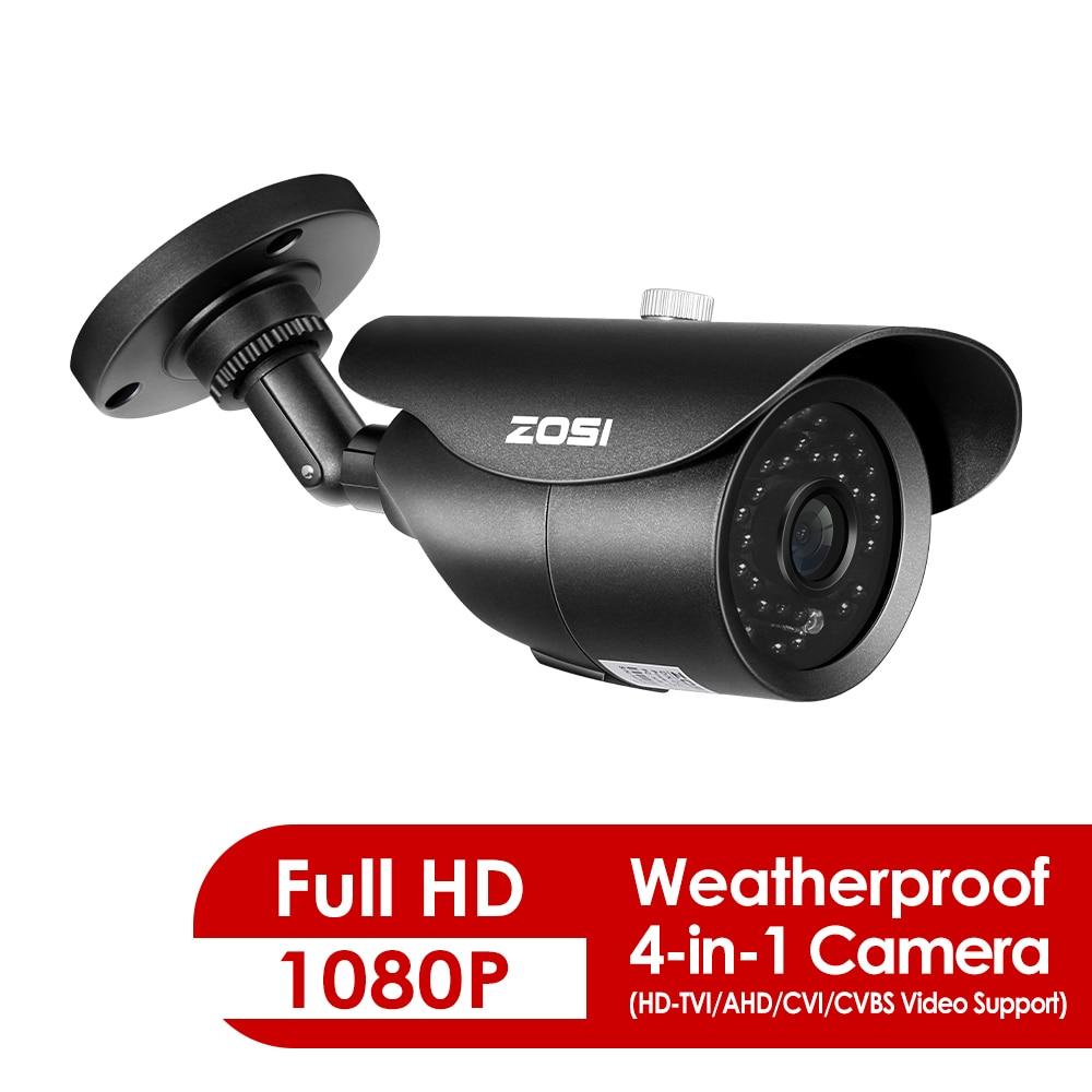 ZOSI 1080P 4 in 1 Outdoor Indoor Video Surveillance Camera HD Weatherproof 100ft Day Night Home CCTV TVI Security Camera