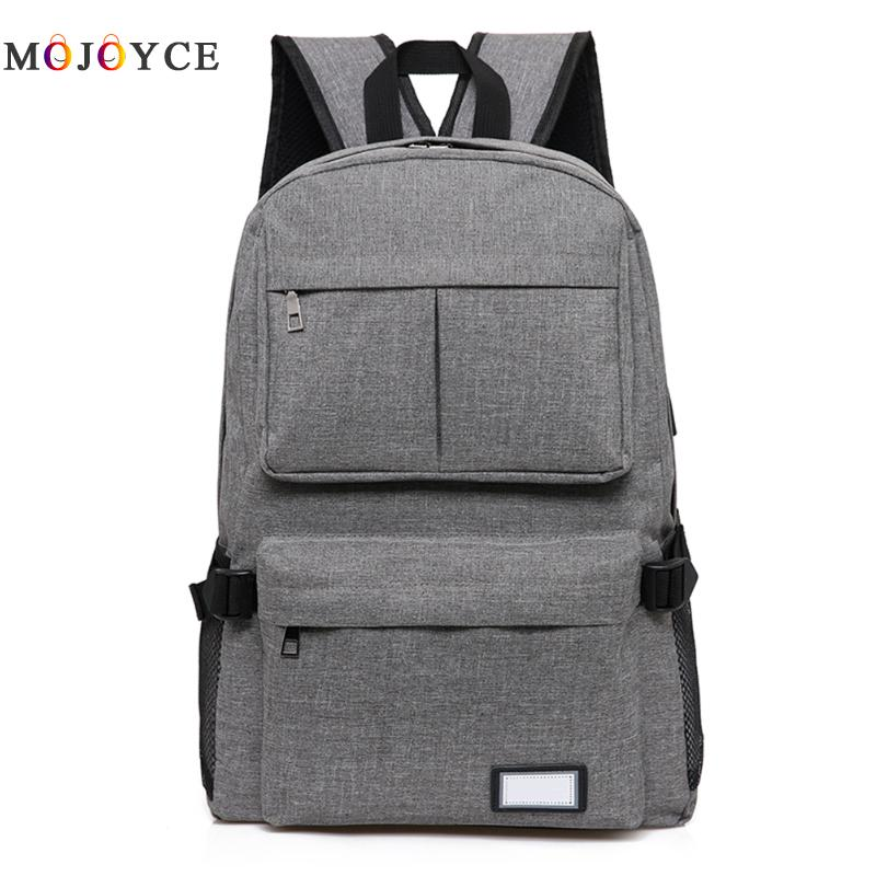 Unisex USB Design Backpack Book Bags For School Casual Rucksack Daypack Laptop Fashion Man Backpacks